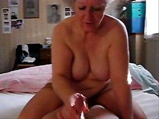 My Aunt Loves To Jerk My Cock  Hidden Cam