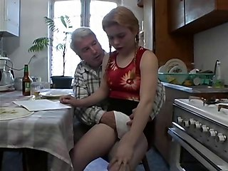 Grand Dad With Hairy Teen
