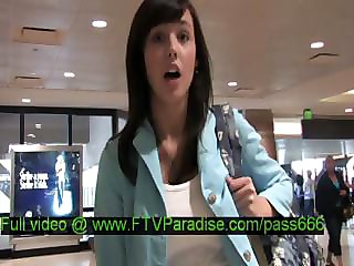Zeba  From Ftv Girls  Superb Brunette Girl Walking In A Aeroport