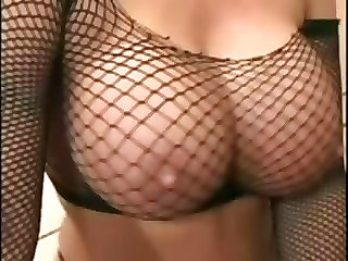 Mom With Huge Tits In Fishnets