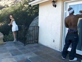 Nextdoor Girl Gets Huge Ebony Dick!